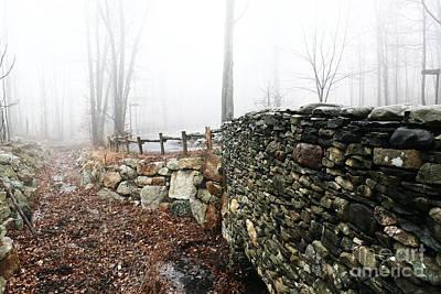 New Paltz Photograph - Stone Wall by John Rizzuto