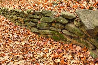 Photograph - Stone Wall by Kim Wilson