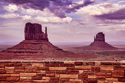 Photograph - Stone Wall Monument Valley by Garry Gay