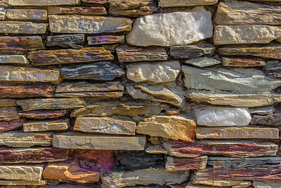 Stone Wall Print by Paul Donohoe