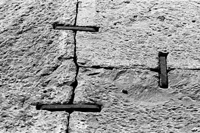 Stone Wall Support Art Print by Jagdish Agarwal