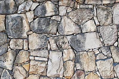Photograph - Stone Wall Texture by Antony McAulay