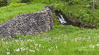Photograph - Stone Wall Waterfall by Alan L Graham