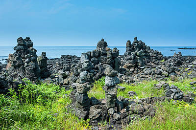 Stacked Stones Photograph - Stone Walls Made By Tourists by Michael Runkel
