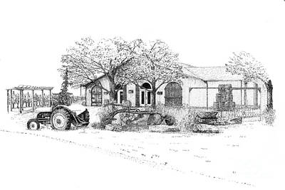 Winery Drawing - Stonechurch Winery by Steve Knapp