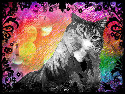 Digital Art - Stoned Again - Catnip Haze by Absinthe Art By Michelle LeAnn Scott