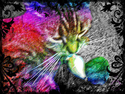 Digital Art - Stoned Again - Catnip Psychedelic by Absinthe Art By Michelle LeAnn Scott