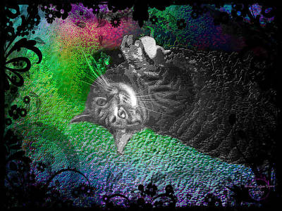 Digital Art - Stoned Again - Catnip Strange by Absinthe Art By Michelle LeAnn Scott