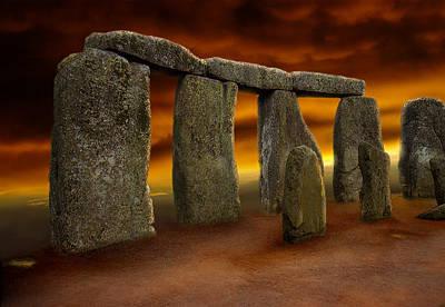 Photograph - Stonehenge 1970 by Ben Kotyuk