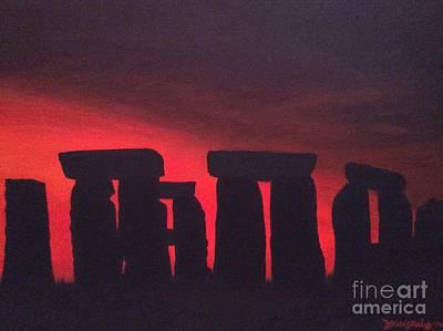 Painting - Stonehenge At Dusk by Denise Railey