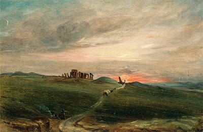 Stonehenge Painting - Stonehenge At Sunset, After John Constable by Litz Collection