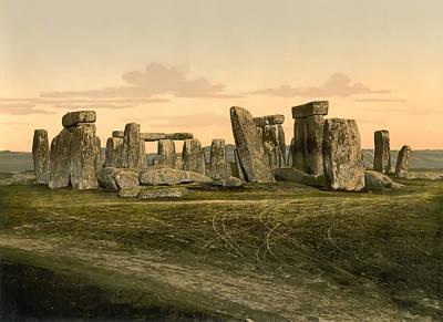Winter Solstice Photograph - Stonehenge Circa 1895 by Bill Cannon