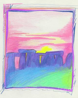 Drawing - Stonehenge  by First Star Art