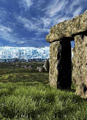 Stonehenge Glacier Theory Art Print by Nicolle R. Fuller