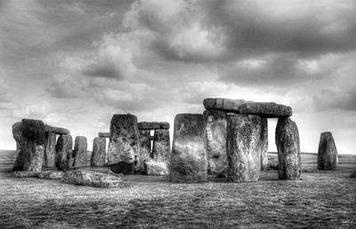 Summer Solstice Photograph - Stonehenge In Black And White by Greg Mimbs