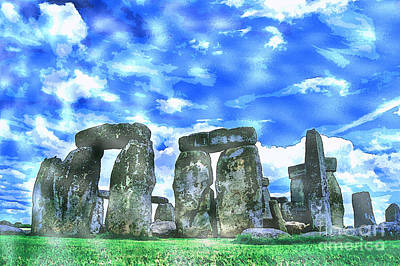 Ruin Painting - Stonehenge In The English County Of Wiltshire  by Celestial Images