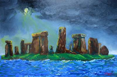 Painting - Stonehenge In The Sea by Rick Carbonell