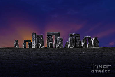 Art Print featuring the photograph Stonehenge Looking Moody by Terri Waters