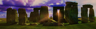 Photograph - Stonehenge Rays by Gordon Engebretson