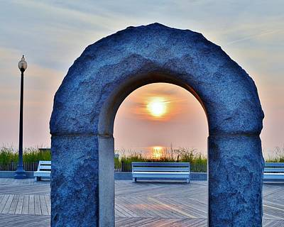 Bemis Photograph - Sunrise Through The Arch - Rehoboth Beach Delaware by Kim Bemis