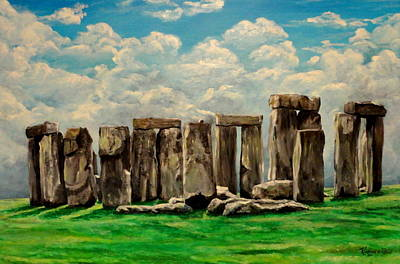 Brittish Painting - Stonehenge by Ruanna Sion Shadd a'Dann'l