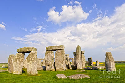 Megalith Photograph - Stonehenge Stone Circle Wiltshire England by Colin and Linda McKie