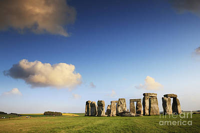 Clouds Photograph - Stonehenge Summer Evening by Colin and Linda McKie