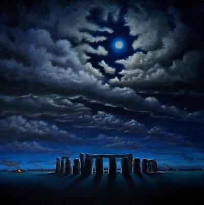 Stonehenge - The People's Circle Art Print