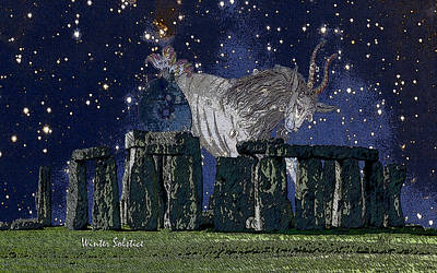 Digital Art - Stonehenge Winter Solstice by Michele Avanti