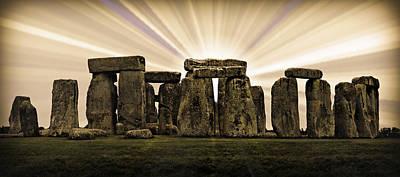 Amesbury Photograph - Stonehenge -- With Sunburst by Stephen Stookey