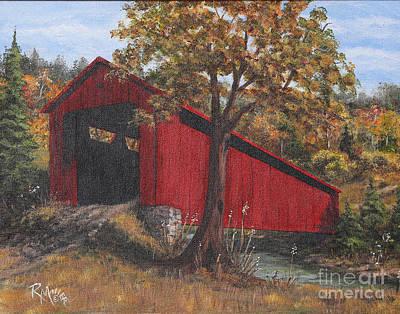Stonelick Williams Corner Covered Bridge Clermont County Ohio 2 Art Print by Rita Miller