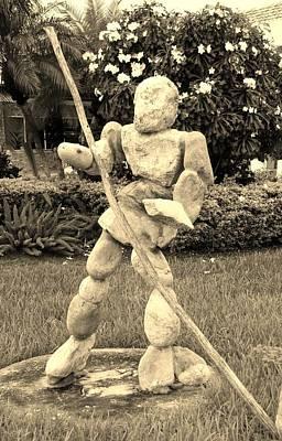 Stoneman In Sepia Art Print by Rob Hans