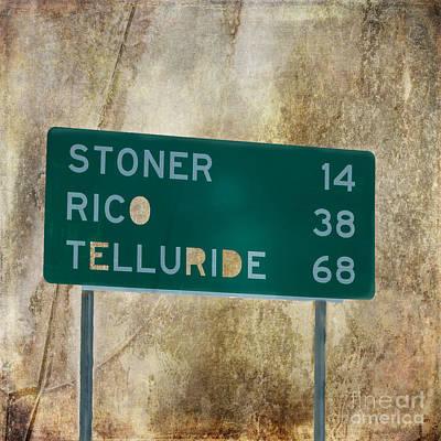 Stoner Rico Telluride Art Print by Janice Rae Pariza