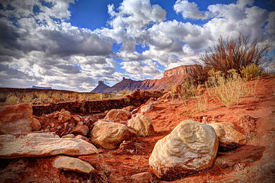 Photograph - Stones And Clouds by Jaki Miller