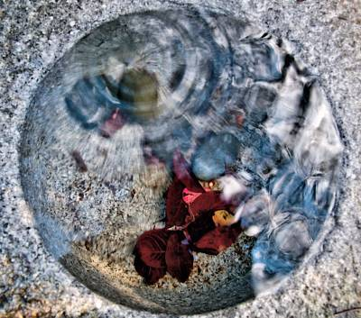 Valentines Day - Stones and Fall Leaves Under Water-41 by Larry Jost