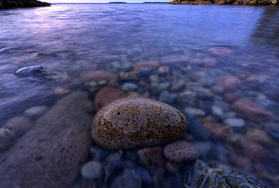 Maine Beach Photograph - Stones And Water In Acadia National Park by Rick Berk