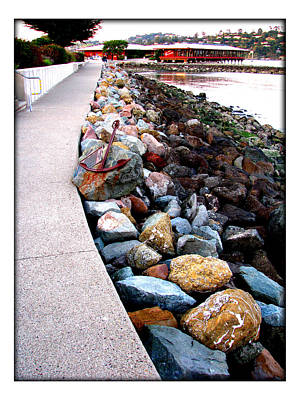 Stones At The Bay... Art Print by Lisa Alex