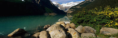 Lake Louise Photograph - Stones At The Lakeside, Lake Louise by Panoramic Images
