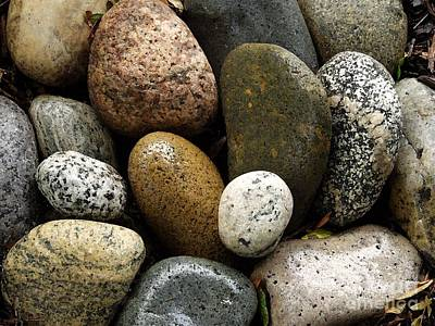 Art Print featuring the photograph Stones by Carol Sweetwood