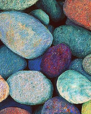Stones In Pastel Print by Antonia Citrino