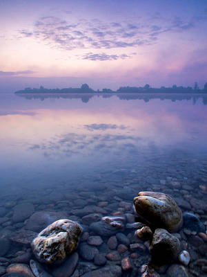 Stones In Purple Dawn Art Print by Davorin Mance