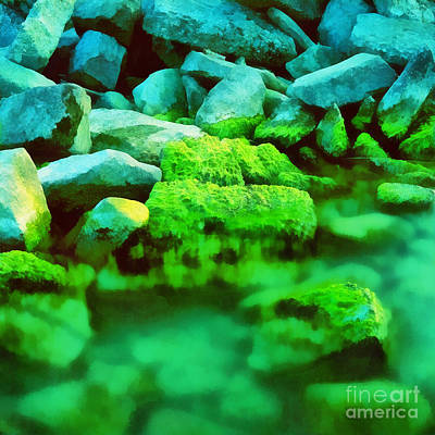 Stones In The Water Print by Odon Czintos