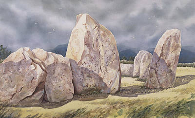 Rock Shapes Painting - Stones Of Castlerigg by Evangeline Dickson