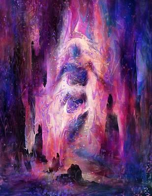 Stones Of Fire Art Print by Rachel Christine Nowicki