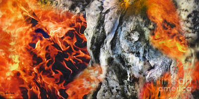 Painting - Stones On Fire 1 by Dov Lederberg