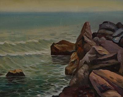 Nature Depiction Painting - Stones On The Sea Side by Stefan Shikerov