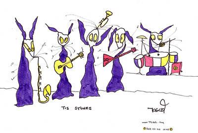 Stones Rock 'n Rolling Original by Tis Art