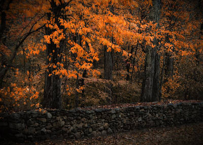 Stonewall In Autumn Art Print by GJ Blackman