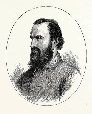 Stonewall Jackson, American Civil War, United States Art Print by American School