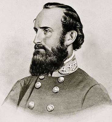 Stonewall Jackson Confederate General Portrait Art Print by Anonymous